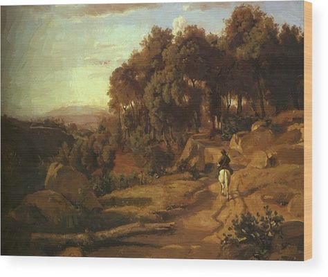 A View Near Colterra 1838 Wood Print By Corot Camille Pixbreak Art