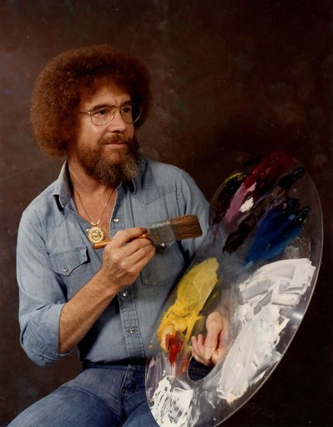 Potrait Drawing Bob Ross - Post with 0 votes and 5088 views. A potrait of Bob Ross, 1983 Messy Bob Hairstyles, Pixie Haircuts, Medium Hairstyles, Wedding Hairstyles, Baddie Hairstyles, Layered Haircuts, Bizarre Photos, Happy Little Trees, The Joy Of Painting