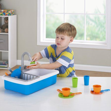 Spark Create Imagine Kitchen Sink Play Set Designed For Ages 3 Walmart Com In 2021 Playset Sink Kitchen Sink