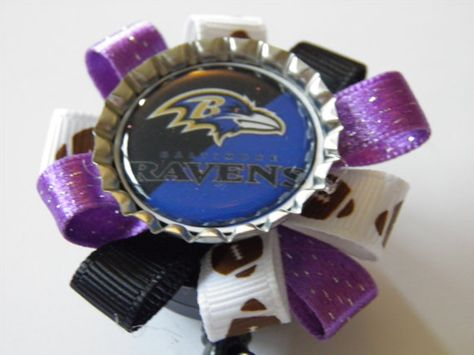 Baltimore Ravens badge holder / Nurse / Travel by YouAndMeBowtique, $5.20