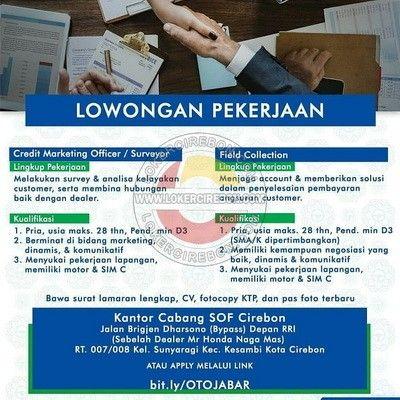 Lowongan Kerja Pt Summit Oto Finance Cirebon Keuangan Marketing
