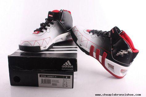 better pre order united states Adidas shoes Kevin Garnett VI Basketball shoes Black White Red ...