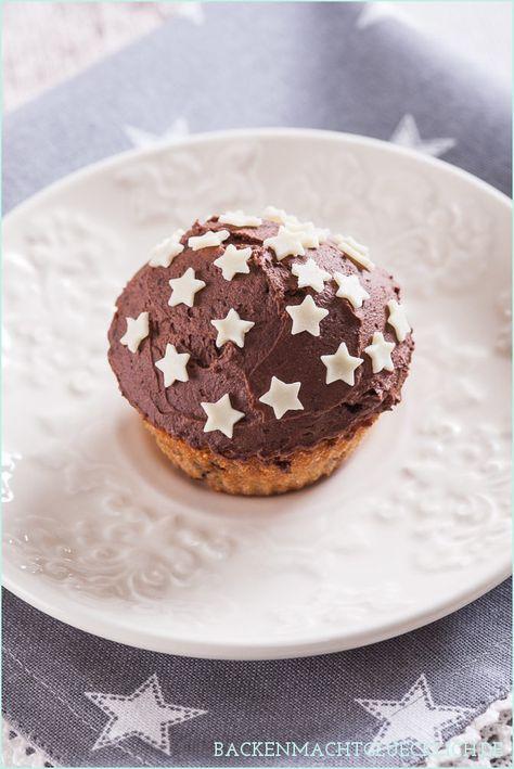 Backen macht glücklich | Spekulatius-Cupcakes mit zweierlei Ganache | http://www.backenmachtgluecklich.de
