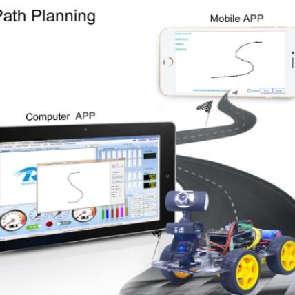 Wireless WiFi Robot Car Kit for Raspberry pi 3B+, Remote