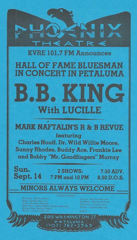 Louisiana Blues Music Lake Charles B.B King Concert Poster