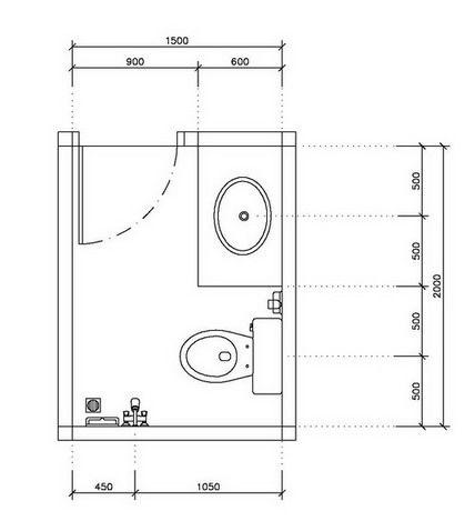 ห องน ำขนาด 1 5x2 เมตร จ ดวางตำแหน งอย างไรด คร บ Home2all Com ห องน ำขนาดเล ก ไอเด ยห องน ำ แปลนแบบบ าน