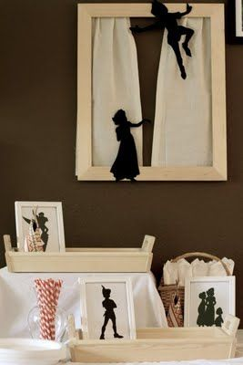 "Peter Pan party favors - make the kids ""shadows"" into take home art"