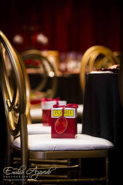 Playbill favors for Broadway themed party!