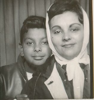 +~ Vintage Photo Booth Picture ~+  Mother and son