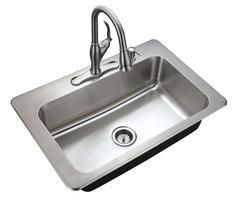 This Kit Includes A 33 X 22 X 9 Single Bowl Kitchen Sink Stainless Steel Finish Ceramic Disc Single Handle Pull Down Kitchen Faucet Kitchen Faucets Pull Down