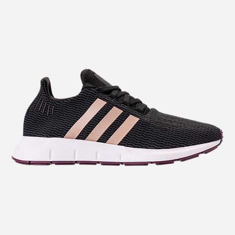 Right view of Women's adidas Swift Run Casual Shoes in Core