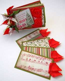 Christmas Toilet Paper Roll albums - just gorgeous!