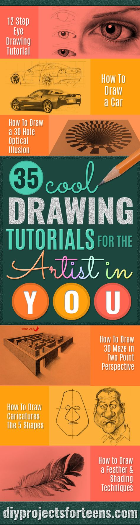 Easy Drawing Ideas - Cool Tutorials For The Artist In You