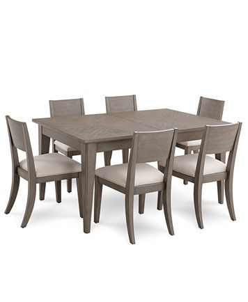 Furniture Tribeca Grey Expandable Dining Furniture 7 Pc Set