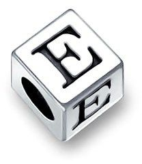 Bling Jewelry  Sterling Silver Block Letter E Alphabet Bead