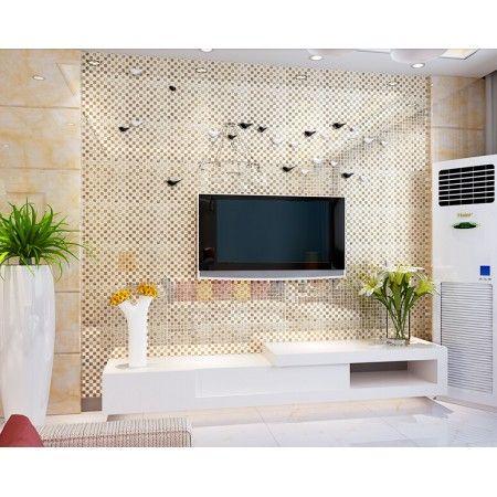 Gold Crystal Glass Tile Bathroom Tiles Kitchen Backsplash Silver In 2021 Mirror Wall Tiles Glass Tile Bathroom Mirror Tiles Latest room wall ceramic size