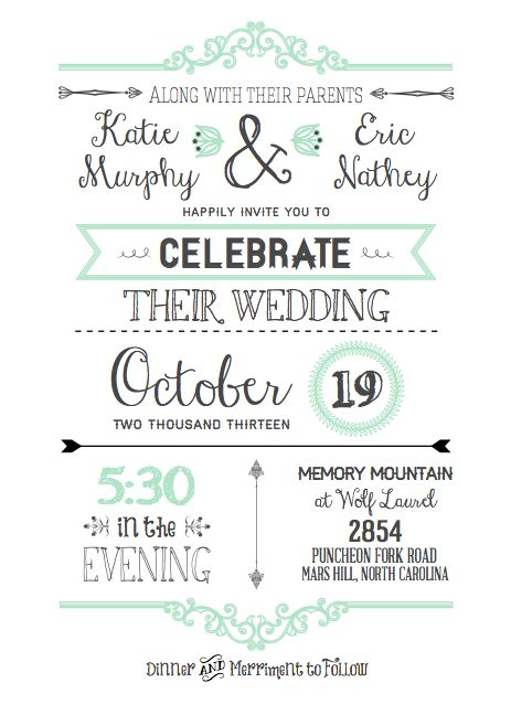 DIY Wedding Invitations with free printable template i really - wedding announcement template