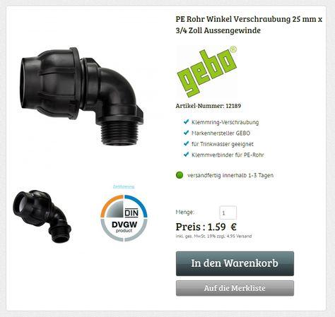Fantastisch Best 20+ Pe rohr 25mm ideas on Pinterest | Wasserschlauchhalter  NW39