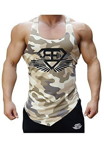 Mens Sleeveless Casual Hooded Tee Gym Hoodie Muscle T-Shirts Vest Camo Tank Tops