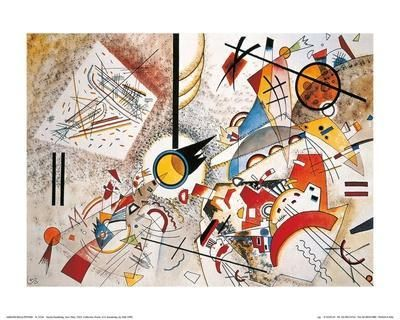 Wassily Kandinsky Delicate Tension Giclee Canvas Print Paintings Poster