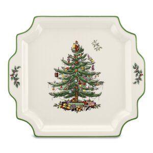 Ruthton Christmas Toile 16 Piece Dinnerware Set Service For 4 Spode Christmas Spode Christmas Tree Christmas Platter