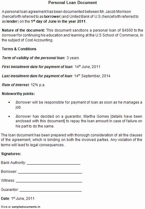 Personal Loan Contract Template Free New Printable Sample Personal Loan Contract Form Personal Loans Legal Forms Loan
