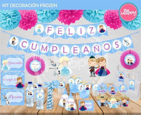 Fiesta De Cumpleaños - 12 pies de hielo Princesa Congelada empavesado Decoración Fiesta Banner