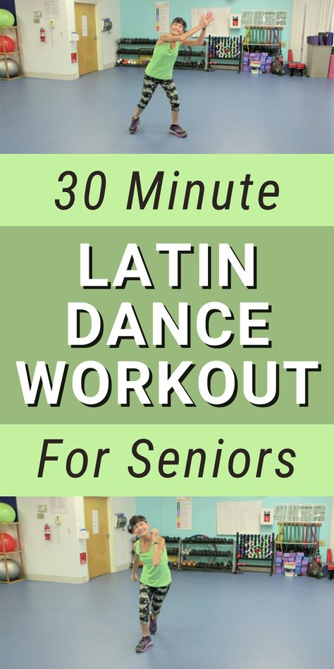 Spice up your workout routine with this 30 minute Latin dance workout for seniors