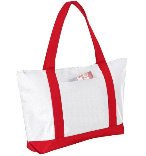 ae88e59aa Polyester Beach Tote Bags with Zipper