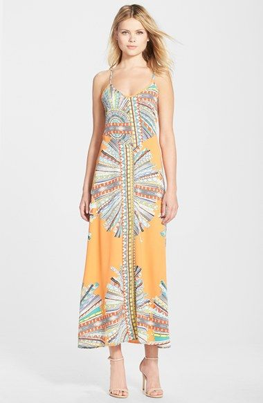 7915bb1df5e Fraiche by J Print Strappy Back Maxi Dress available at  Nordstrom ...