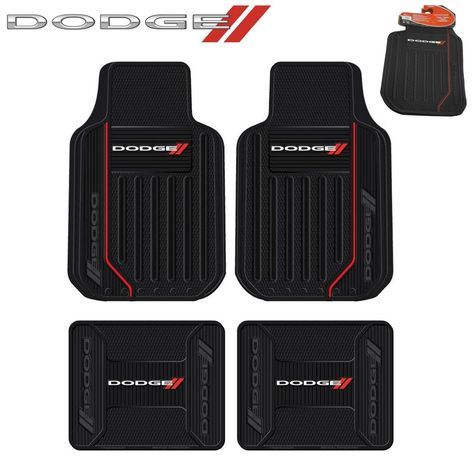 4 Pc Dodge Elite Front Rear Rubber Floor Mats With Logo Fast Same