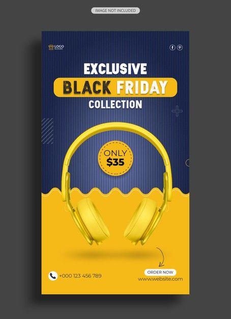 Black Friday Headphone Sale Instagram Story In 2020 Instagram Story Black Friday Headphones For Sale