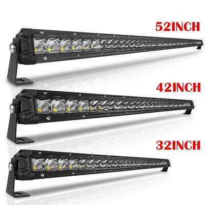 12 22 32 42 52 Inch Single Row Slim Led Work Light Bar Offroad Truck 4wd Suv In 2020 Light Bar Truck Bar Lighting Led Work Light