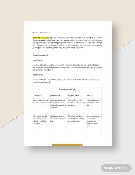 Agency Swot Analysis Template Word Doc Google Docs Swot Analysis Template Swot Analysis Analysis