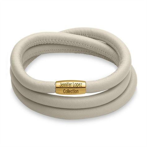 Glänzendes Armband Endless creme gold 1055 (triple) http://www.thejewellershop.com/ #armband #bracelet #jlo #endless #jlopez