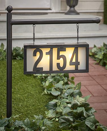 Solar House Number Display Stakes In 2020 Solar House Numbers