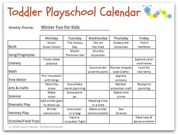 Week Long Winter Christmas Lesson Plan For Use With Toddlers Or Preschoolers Lesson Plans For Toddlers Infant Lesson Plans Toddler Lesson Plans Template
