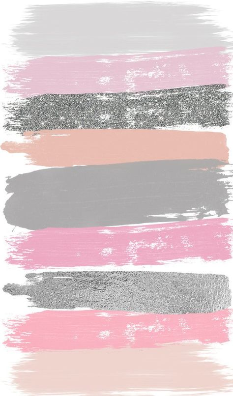 Pink Gray Brush Strokes Clip Art 27 Hand Painted Pink Glitter | Etsy