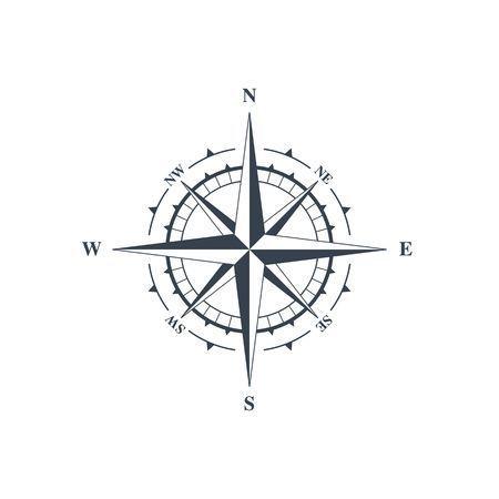 Stock Photo Banque d'images - Signe Compass, rose des vents ic\u00f4ne. Vector illustration isol\u00e9 sur fond blanc