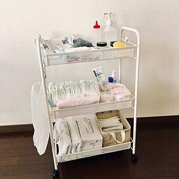 おむつ収納どうしてる 無印 ニトリ Ikea 人気アイテムを使った実例集 Kufura収納調査隊 Vol 37 Kufura クフラ 小学館公式 赤ちゃん 収納 ベビー用品 収納 おむつ替え