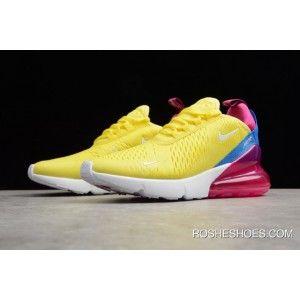 Women's Nike Air Max 270 Bright Lemon YellowWhite Racer Blue
