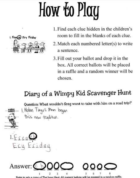Diary Of A Wimpy Kid Scavenger Hunt Thrive After Three In 2020 Scavenger Hunt For Kids Wimpy Kid Wimpy Kid Books