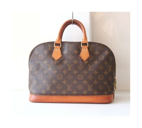 ce6c8845189 Louis Vuitton Monogram Alma MM Brown Authentic Vintage handbag purse by  hfvin on Etsy