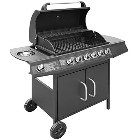 Tidyard Gas Barbecue Grill 6 1 Burner Garden Grill Outdoor Cooking