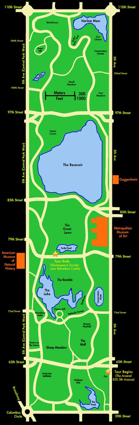 Central Park Map... I will need this