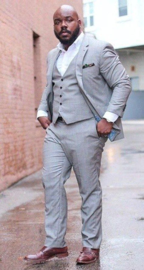 Amazing Plus Size Men Outfit Ideas You Can Wear 39 Large Men Fashion Big Men Fashion Plus Size Men