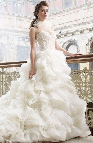 100 best Lazaro images on Pinterest | Short wedding gowns, Wedding ...
