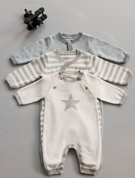 Outerwear Girls' Clothing (newborn-5t) Mamas And Papas Baby Boy Fox Knitted All In One 3-6mths And To Have A Long Life.