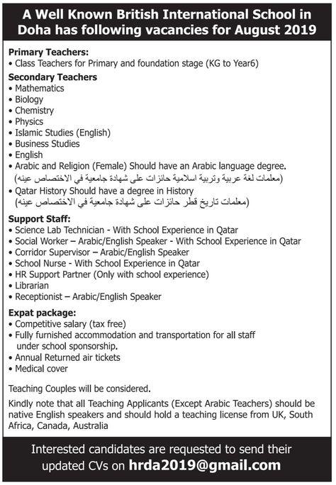 Jobs In Qatar For International Applicants