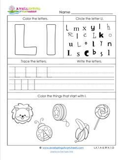 ABC Worksheets - Letter L - Alphabet Worksheets | Alphabet ...